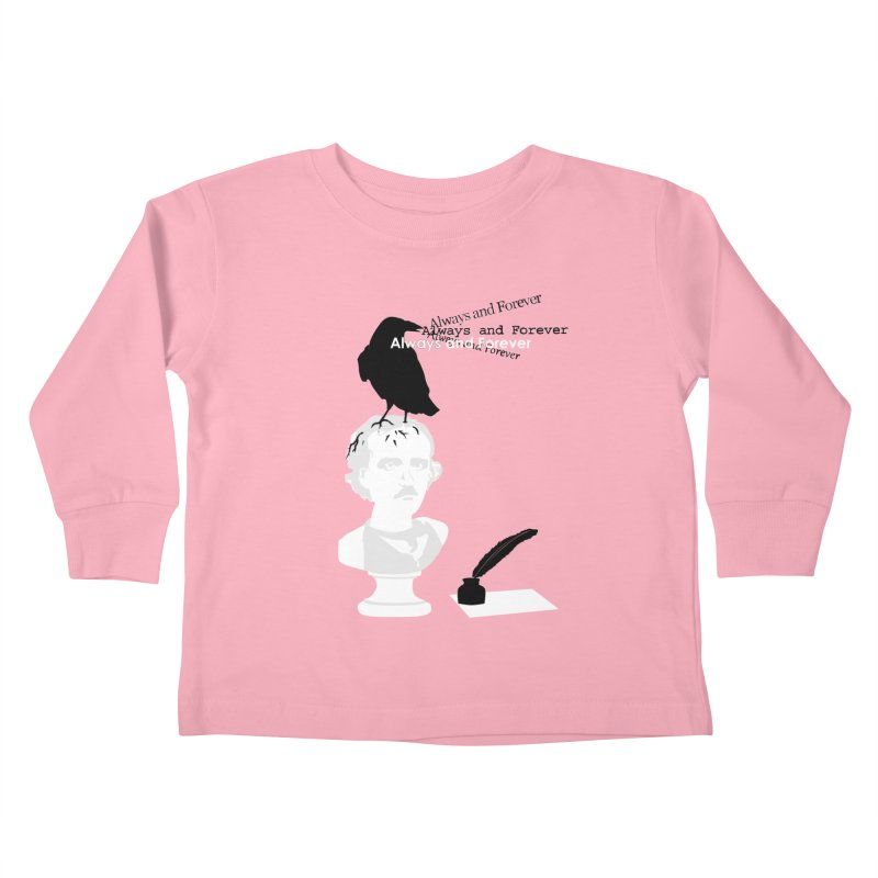 Edgar Allan Poe Kids Toddler Longsleeve T-Shirt by Alpha Ryan's Artist Shop