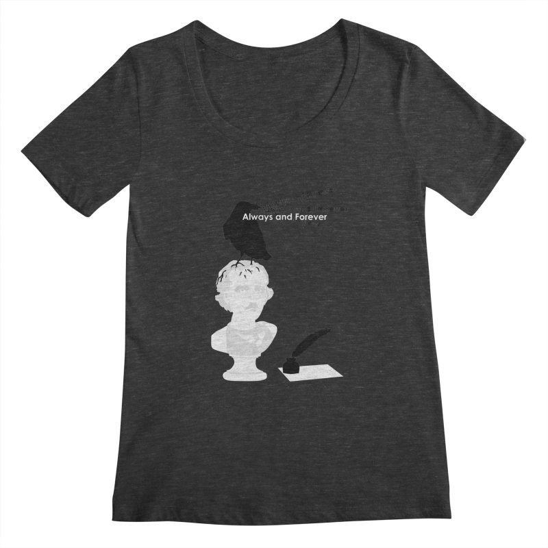 Edgar Allan Poe Women's Scoopneck by Alpha Ryan's Artist Shop