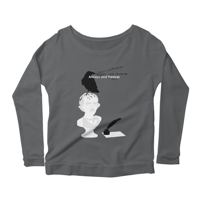 Edgar Allan Poe Women's Longsleeve T-Shirt by Alpha Ryan's Artist Shop