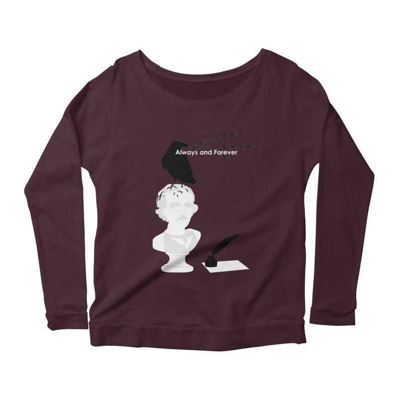 Edgar Allan Poe Women's Scoop Neck Longsleeve T-Shirt by Alpha Ryan's Artist Shop