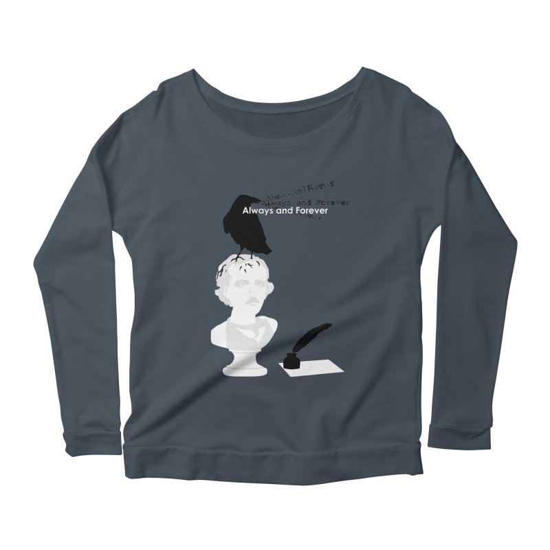 Edgar Allan Poe Women's Scoop Neck Longsleeve T-Shirt by Alpha Ryan's Artist Shop