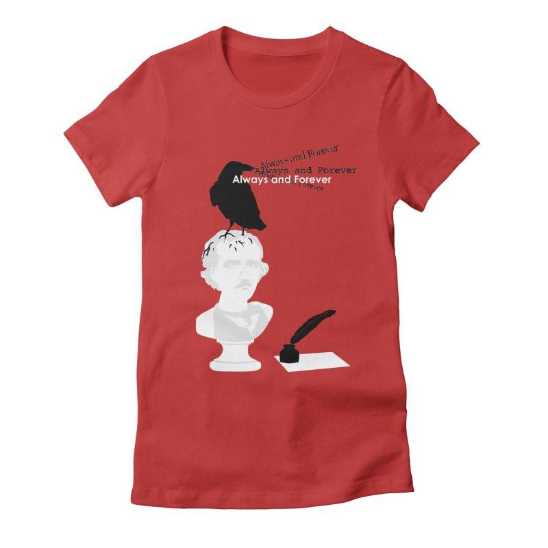 Edgar Allan Poe Women's Fitted T-Shirt by Alpha Ryan's Artist Shop
