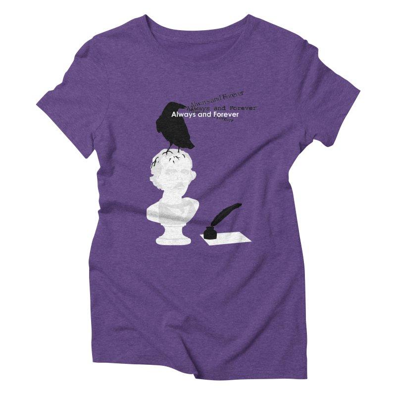 Edgar Allan Poe Women's Triblend T-shirt by Alpha Ryan's Artist Shop