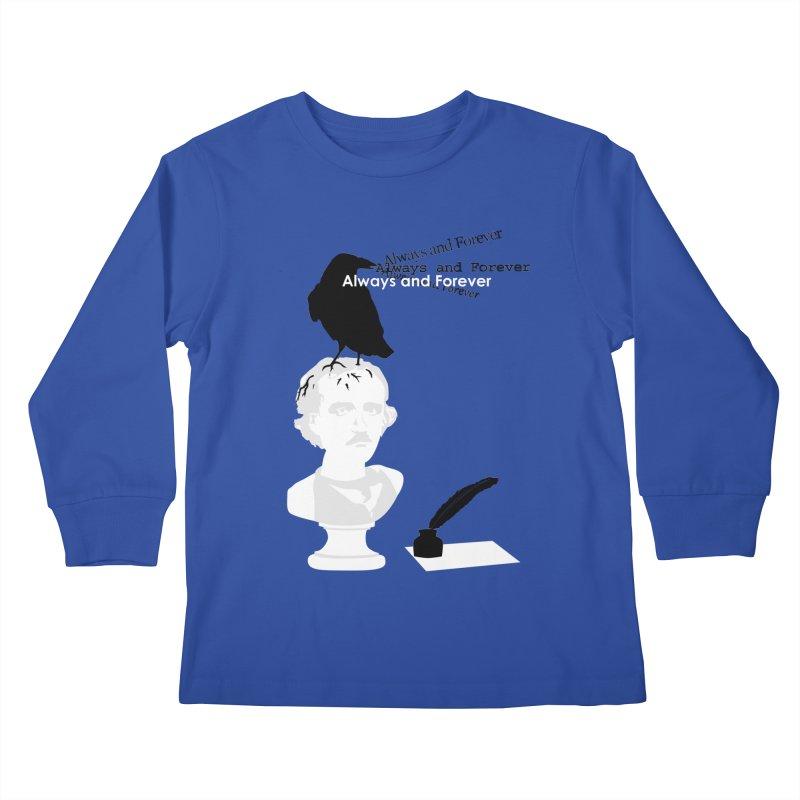 Edgar Allan Poe Kids Longsleeve T-Shirt by Alpha Ryan's Artist Shop