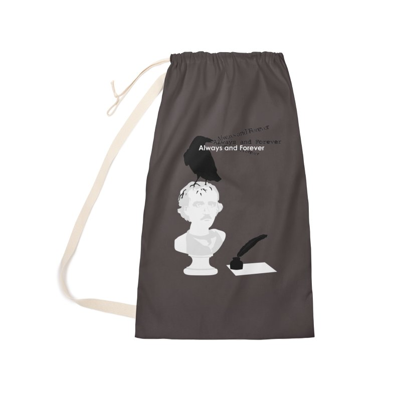 Edgar Allan Poe Accessories Laundry Bag Bag by Alpha Ryan's Artist Shop