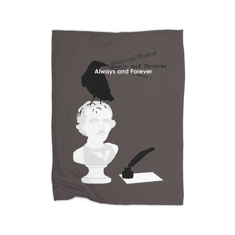Edgar Allan Poe Home Fleece Blanket Blanket by Alpha Ryan's Artist Shop