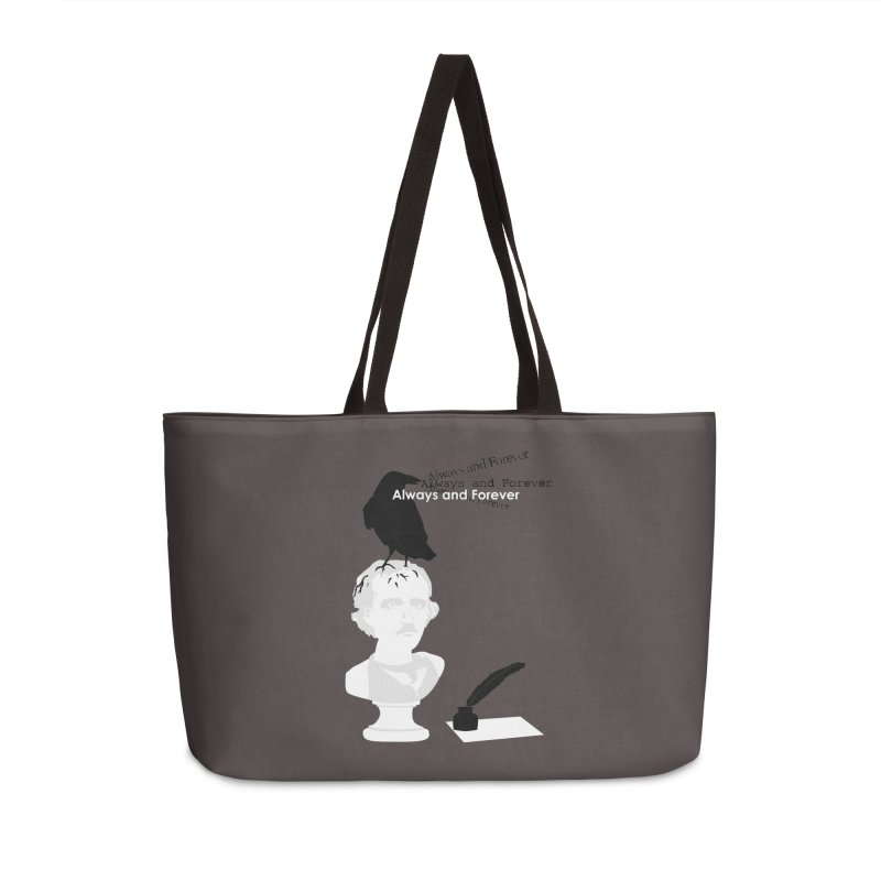 Edgar Allan Poe Accessories Weekender Bag Bag by Alpha Ryan's Artist Shop