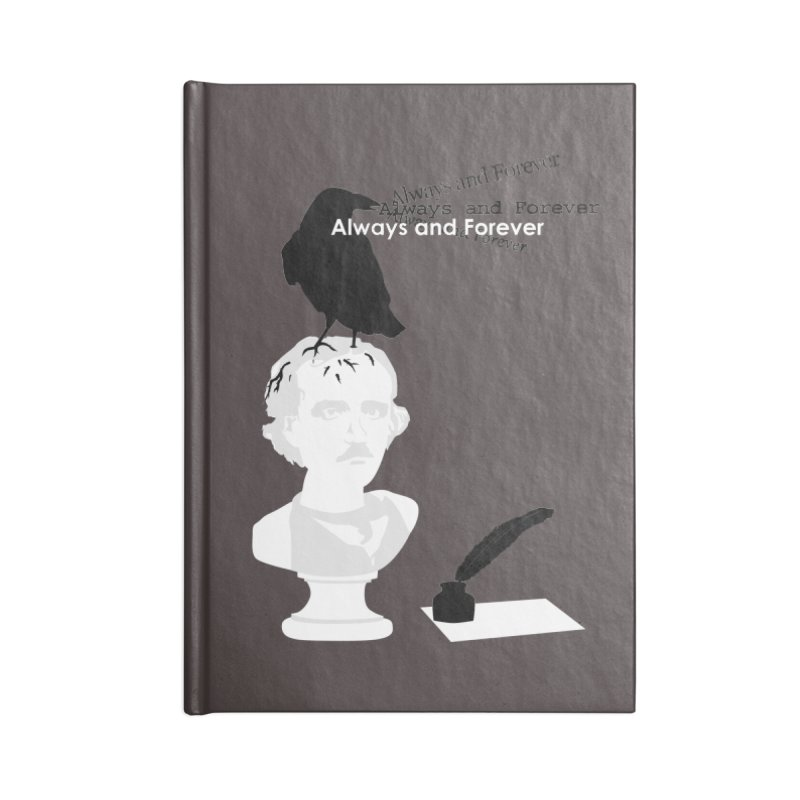 Edgar Allan Poe Accessories Blank Journal Notebook by Alpha Ryan's Artist Shop