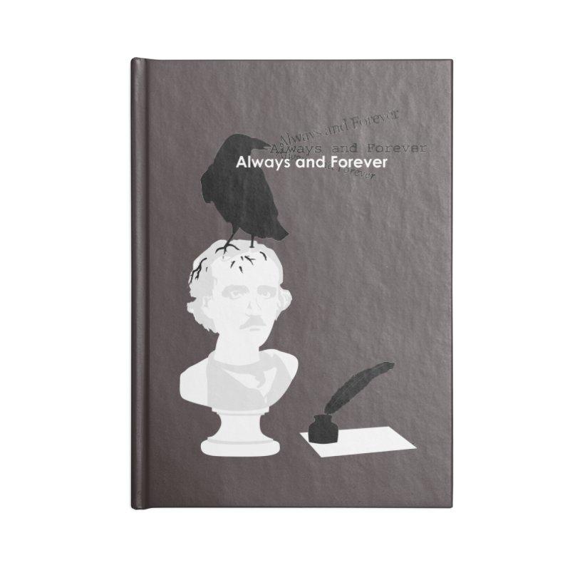 Edgar Allan Poe Accessories Lined Journal Notebook by Alpha Ryan's Artist Shop