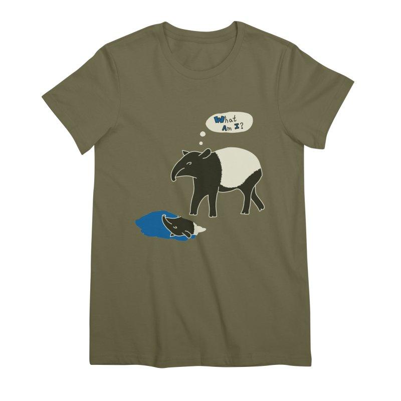 Tapir Mysteries Women's Premium T-Shirt by Alpha Ryan's Artist Shop