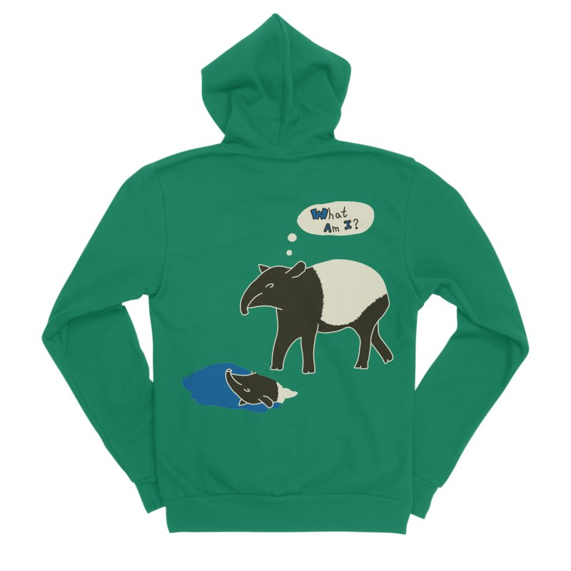 Tapir Mysteries Women's Sponge Fleece Zip-Up Hoody by Alpha Ryan's Artist Shop