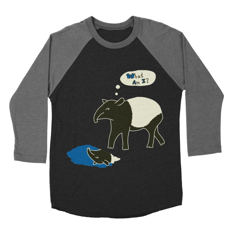 Tapir Mysteries Men's Baseball Triblend Longsleeve T-Shirt by Alpha Ryan's Artist Shop