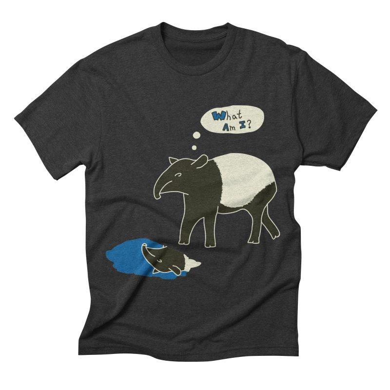 Tapir Mysteries Men's Triblend T-shirt by Alpha Ryan's Artist Shop