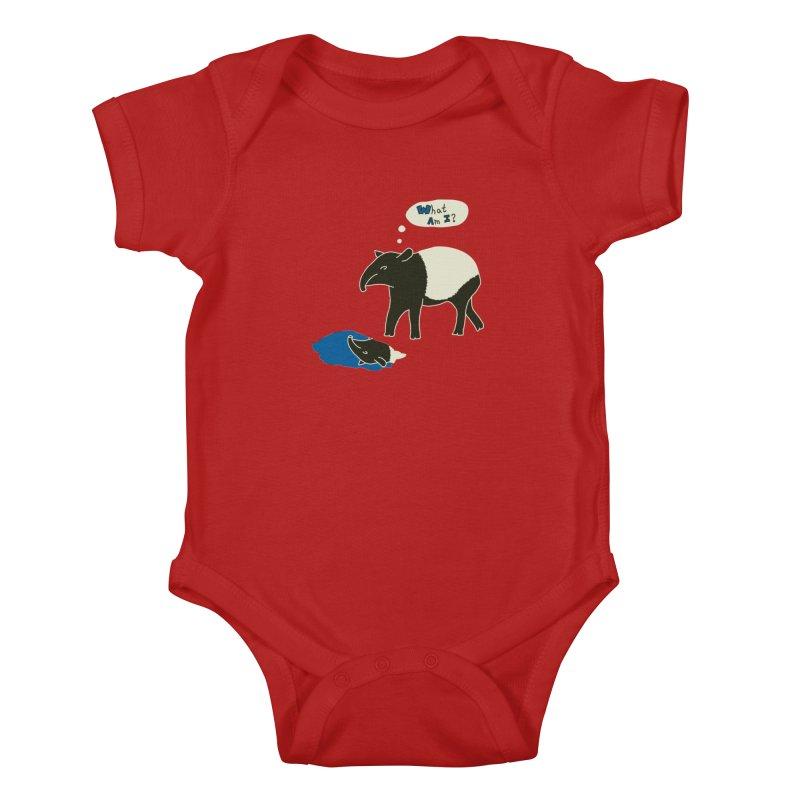 Tapir Mysteries Kids Baby Bodysuit by Alpha Ryan's Artist Shop