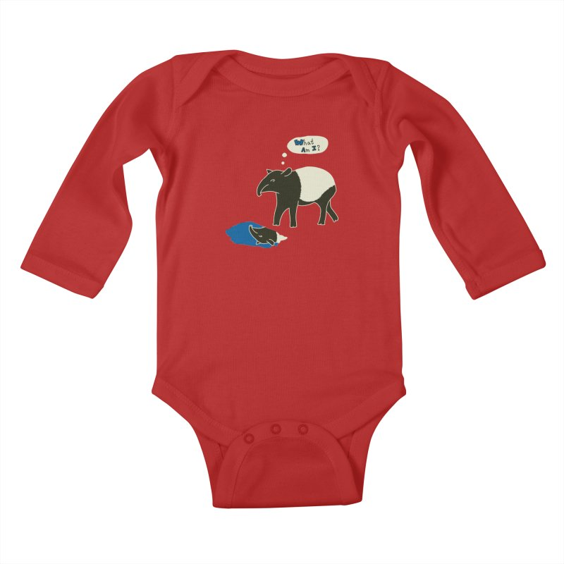 Tapir Mysteries Kids Baby Longsleeve Bodysuit by Alpha Ryan's Artist Shop