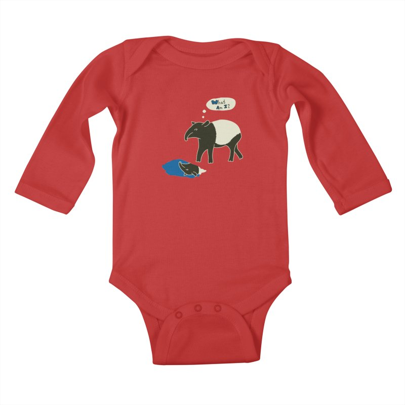 Tapir Mysteries Kids Baby Longsleeve Bodysuit by Alpha Ryan's Artist Shop