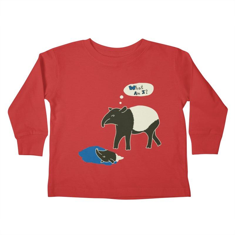 Tapir Mysteries Kids Toddler Longsleeve T-Shirt by Alpha Ryan's Artist Shop