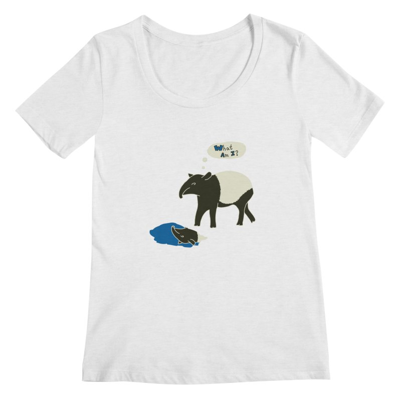 Tapir Mysteries Women's Regular Scoop Neck by Alpha Ryan's Artist Shop