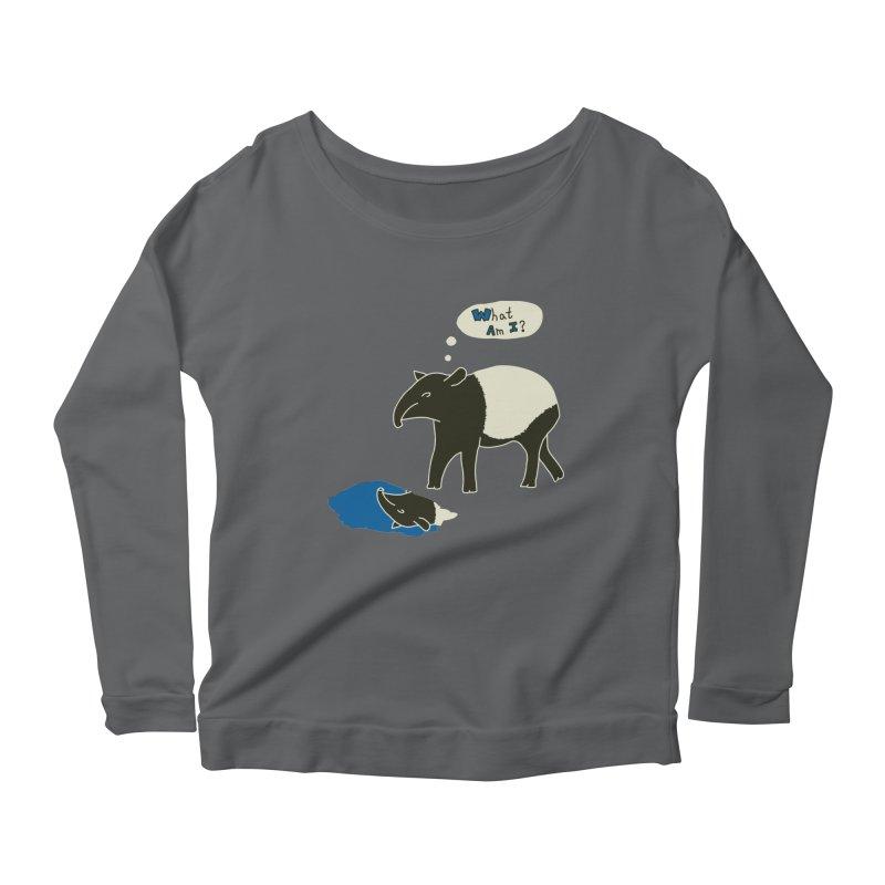 Tapir Mysteries Women's Scoop Neck Longsleeve T-Shirt by Alpha Ryan's Artist Shop