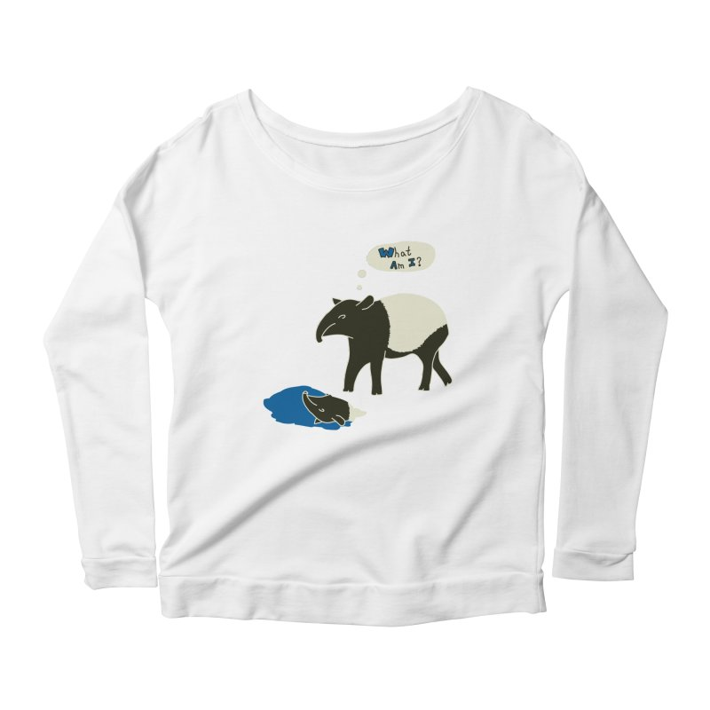 Tapir Mysteries Women's Scoop Neck Longsleeve T-Shirt by Alpha Ryan's Artist Shop