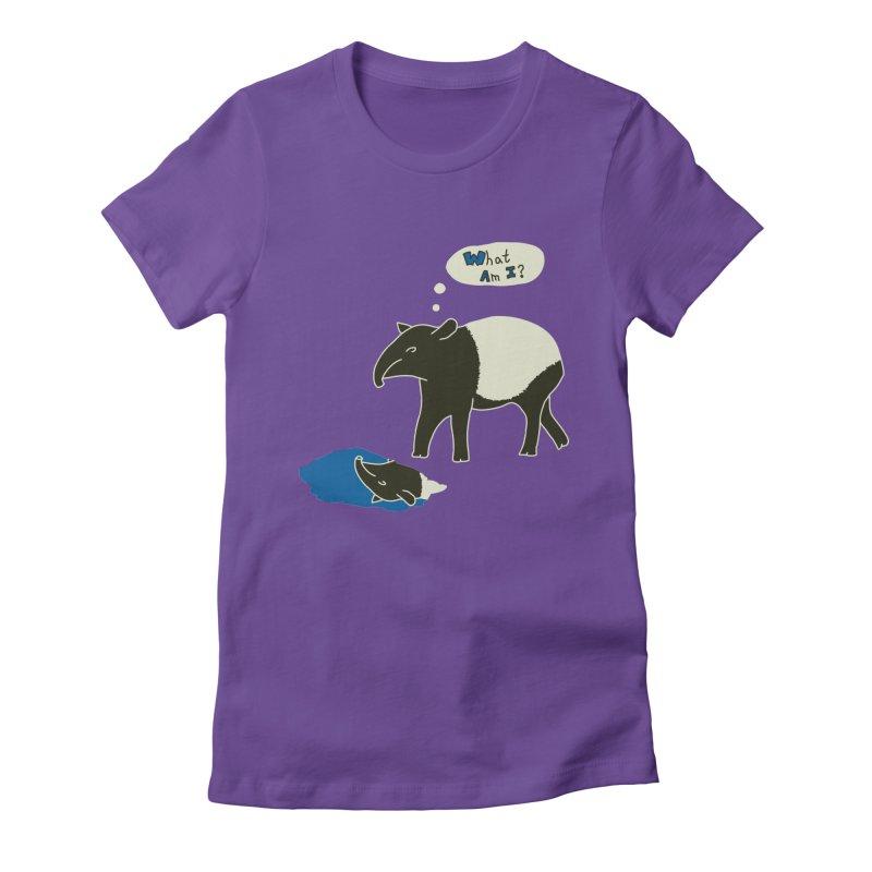 Tapir Mysteries Women's Fitted T-Shirt by Alpha Ryan's Artist Shop