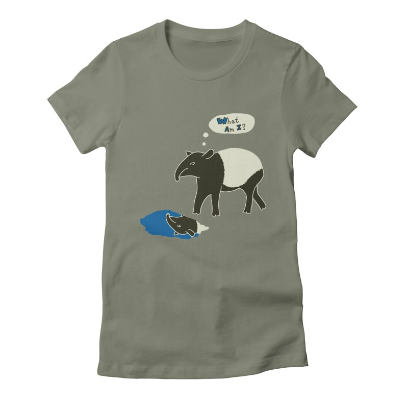 Tapir Mysteries Women's Fitted T-Shirt by Alpha Ryan's Artist Shop