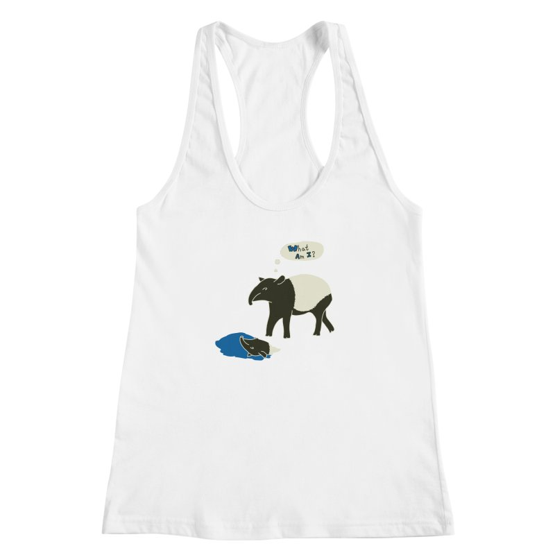 Tapir Mysteries Women's Racerback Tank by Alpha Ryan's Artist Shop