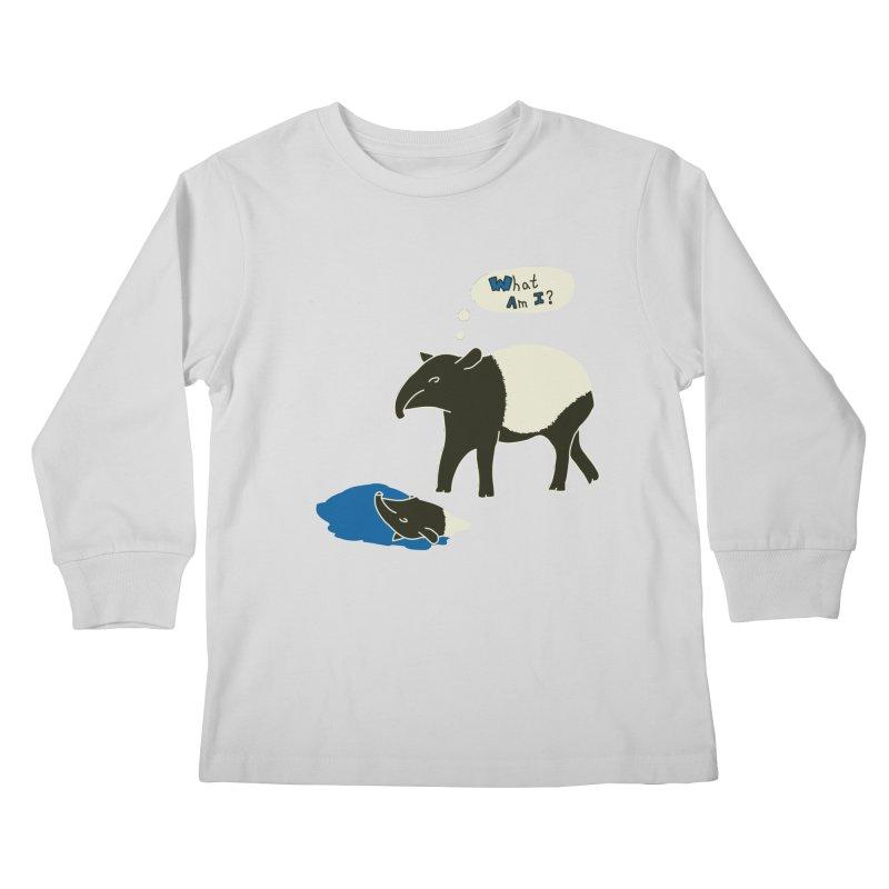Tapir Mysteries Kids Longsleeve T-Shirt by Alpha Ryan's Artist Shop
