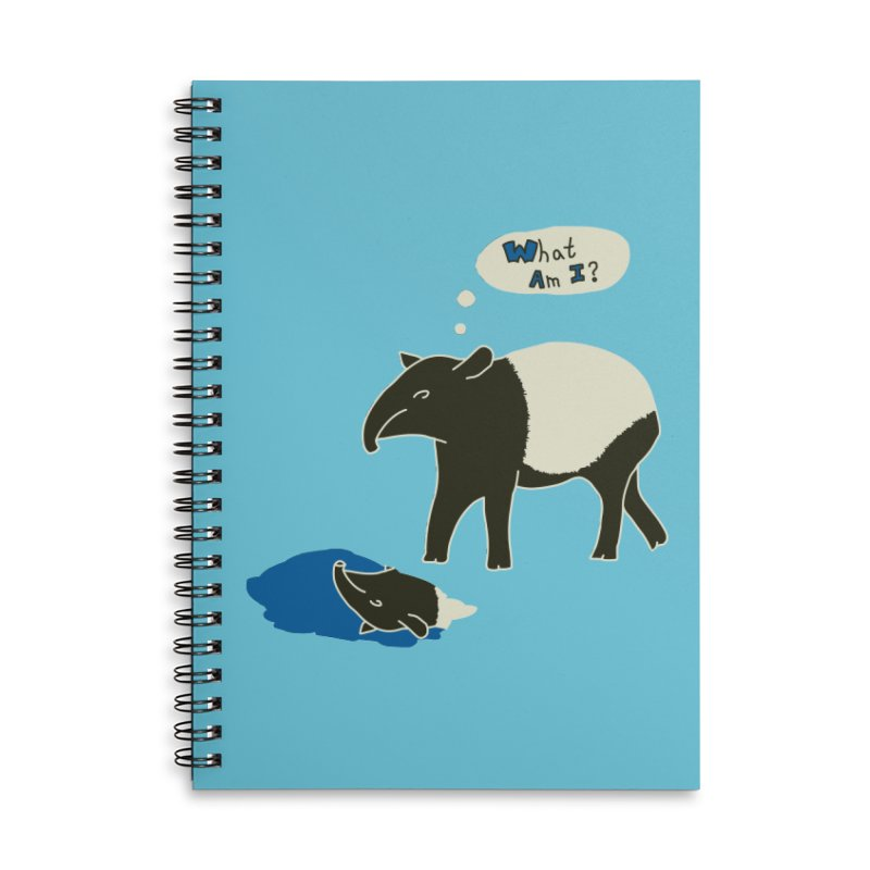 Tapir Mysteries Accessories Lined Spiral Notebook by Alpha Ryan's Artist Shop