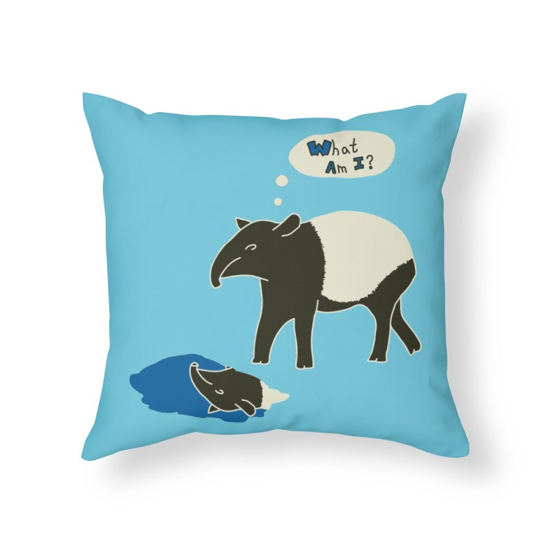Tapir Mysteries Home Throw Pillow by Alpha Ryan's Artist Shop