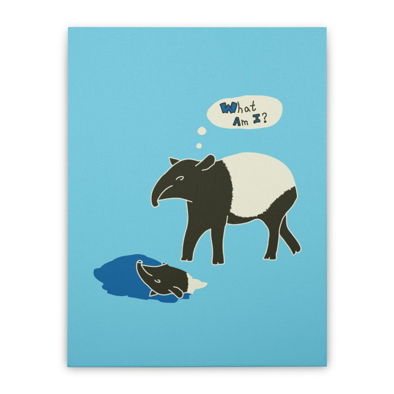 Tapir Mysteries Home Stretched Canvas by Alpha Ryan's Artist Shop