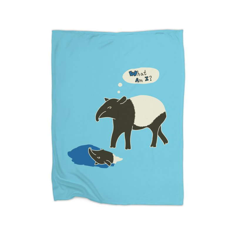 Tapir Mysteries Home Fleece Blanket Blanket by Alpha Ryan's Artist Shop