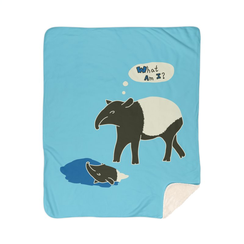 Tapir Mysteries Home Sherpa Blanket Blanket by Alpha Ryan's Artist Shop