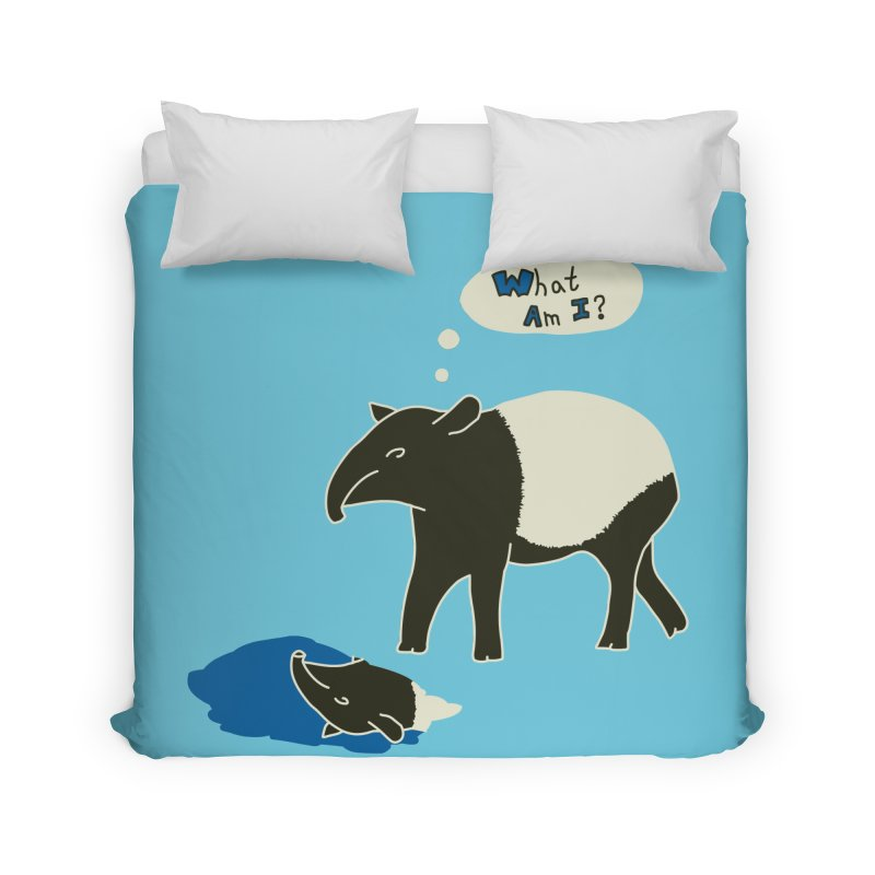 Tapir Mysteries Home Duvet by Alpha Ryan's Artist Shop