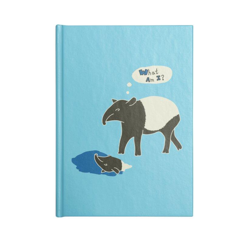 Tapir Mysteries Accessories Lined Journal Notebook by Alpha Ryan's Artist Shop
