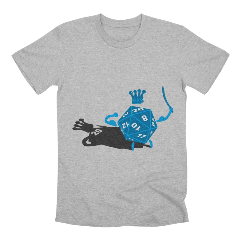 King d20 / Natural Leader Men's T-Shirt by Alpha Ryan's Artist Shop