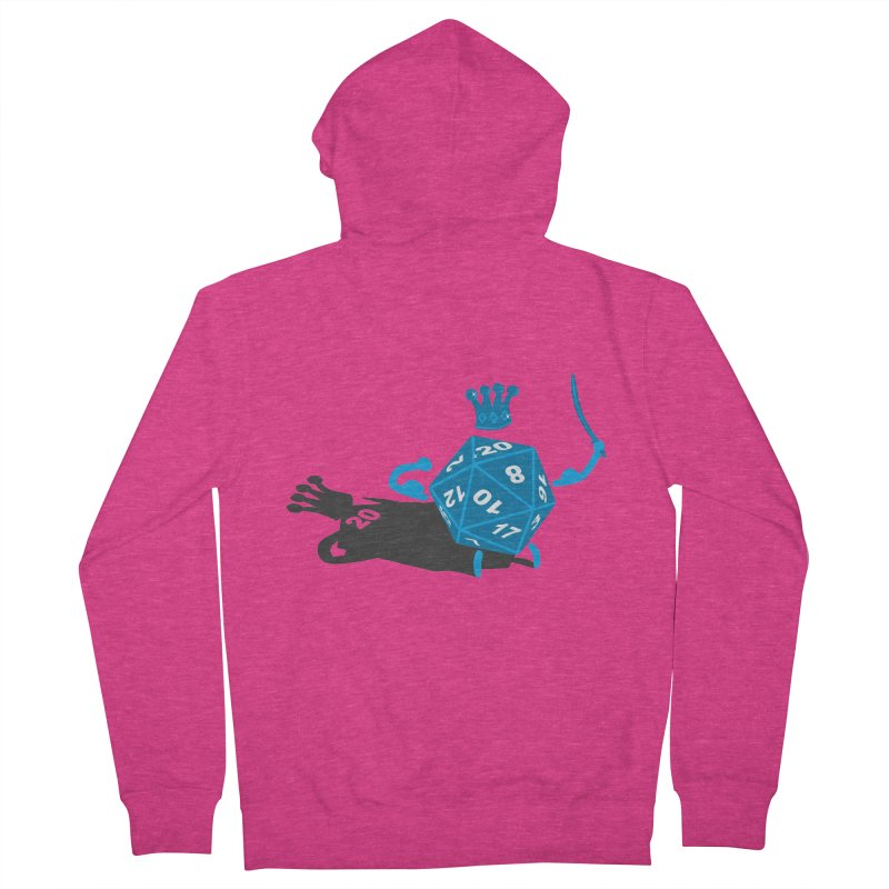 King d20 / Natural Leader Women's French Terry Zip-Up Hoody by Alpha Ryan's Artist Shop