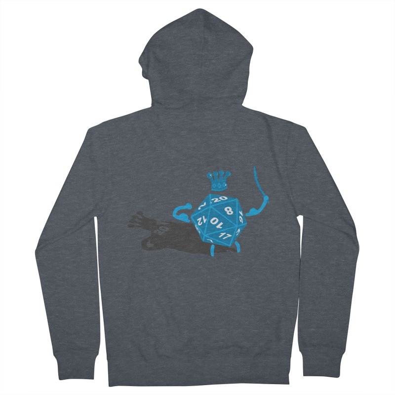 King d20 / Natural Leader Men's French Terry Zip-Up Hoody by Alpha Ryan's Artist Shop