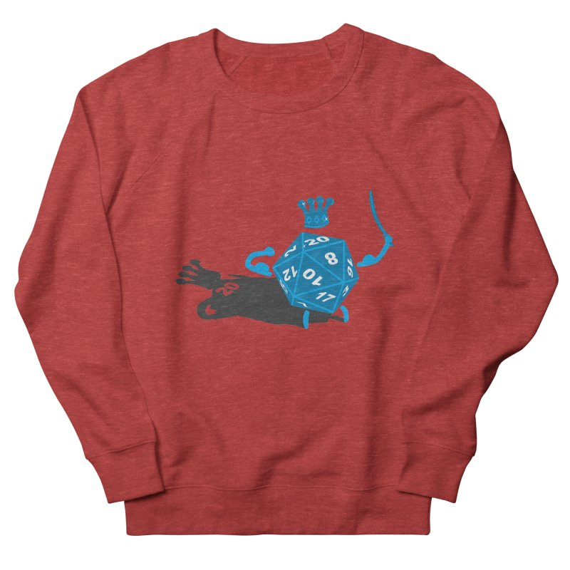 King d20 / Natural Leader Men's French Terry Sweatshirt by Alpha Ryan's Artist Shop