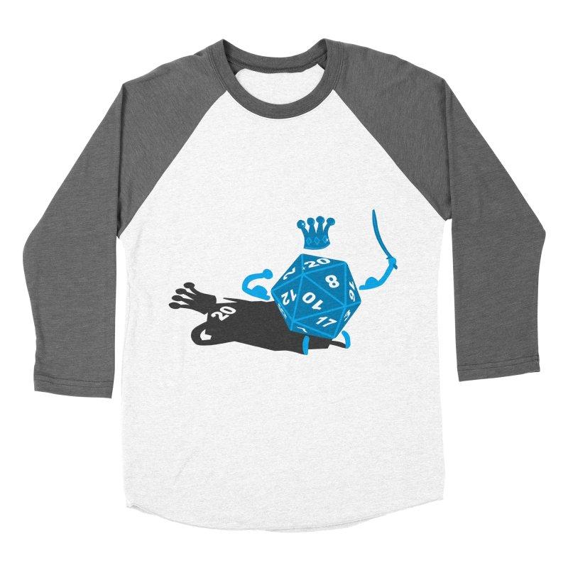 King d20 / Natural Leader Women's Baseball Triblend Longsleeve T-Shirt by Alpha Ryan's Artist Shop