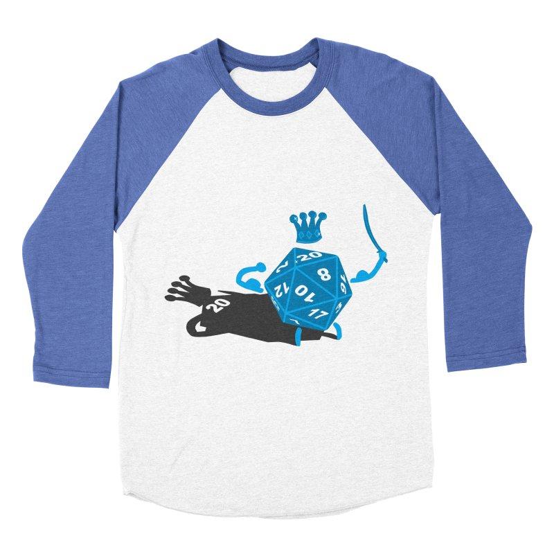 King d20 / Natural Leader Men's Baseball Triblend Longsleeve T-Shirt by Alpha Ryan's Artist Shop