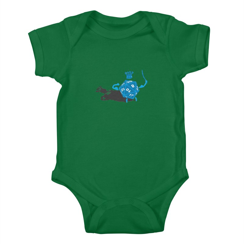 King d20 / Natural Leader Kids Baby Bodysuit by Alpha Ryan's Artist Shop