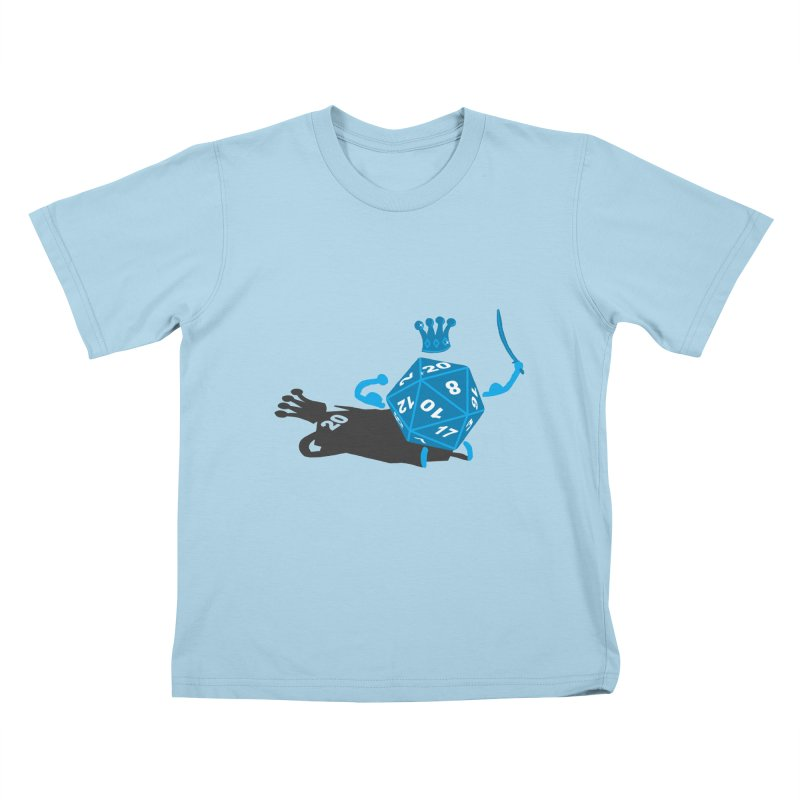 King d20 / Natural Leader Kids T-Shirt by Alpha Ryan's Artist Shop