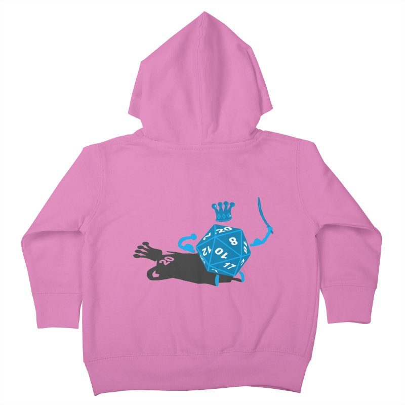 King d20 / Natural Leader Kids Toddler Zip-Up Hoody by Alpha Ryan's Artist Shop