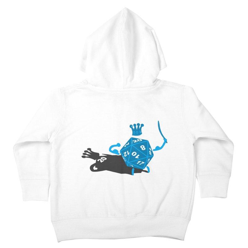 King d20 / Natural Leader Kids Toddler Zip-Up Hoody by Alpha Ryan's Artist Shop