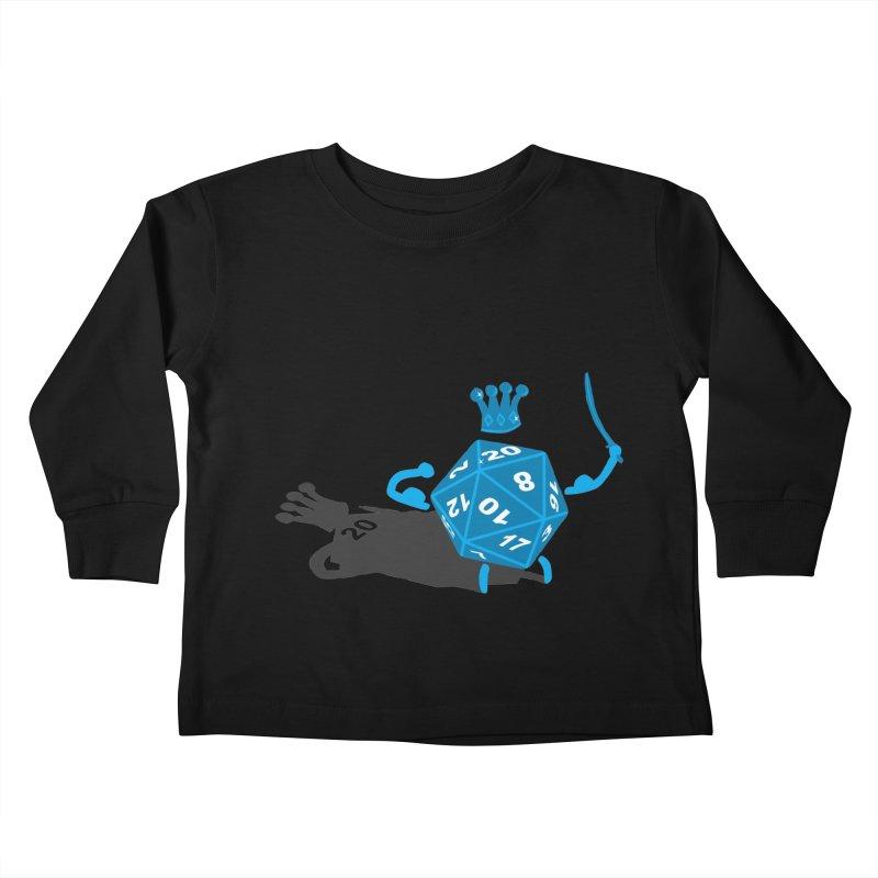 King d20 / Natural Leader Kids Toddler Longsleeve T-Shirt by Alpha Ryan's Artist Shop
