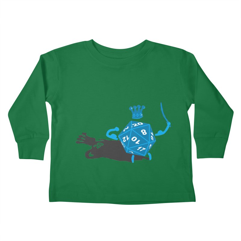 King d20 / Natural Leader Kids Toddler Longsleeve T-Shirt by Alpha Ryan's Artist Shop