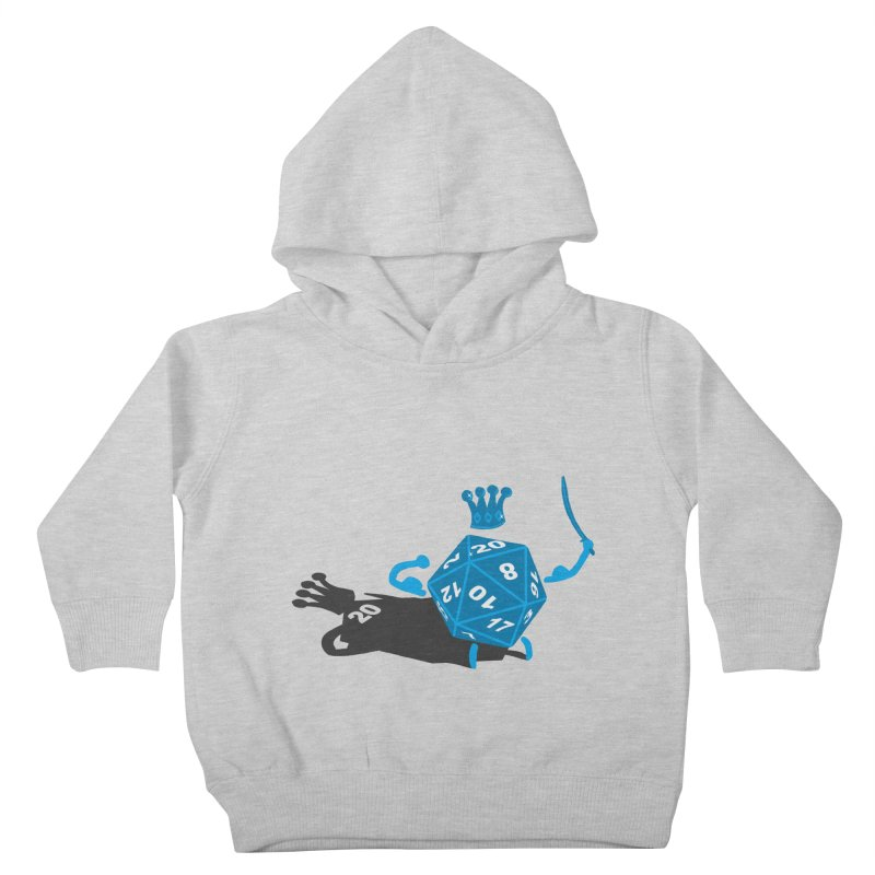 King d20 / Natural Leader Kids Toddler Pullover Hoody by Alpha Ryan's Artist Shop