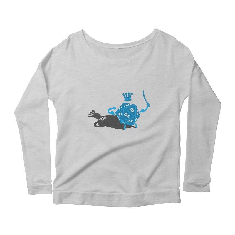 King d20 / Natural Leader Women's Scoop Neck Longsleeve T-Shirt by Alpha Ryan's Artist Shop