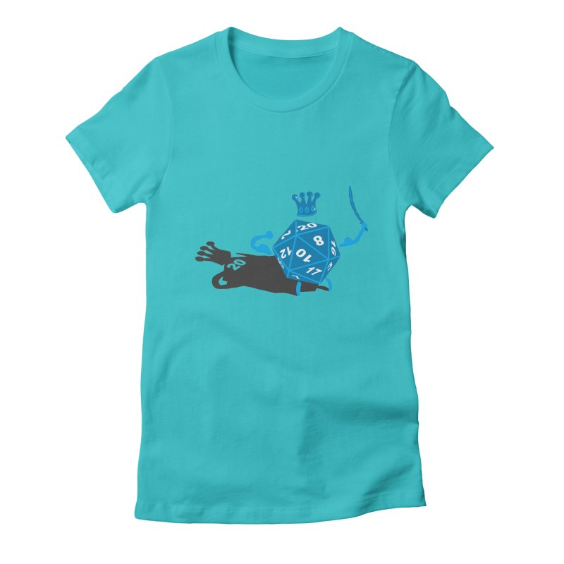 King d20 / Natural Leader Women's Fitted T-Shirt by Alpha Ryan's Artist Shop